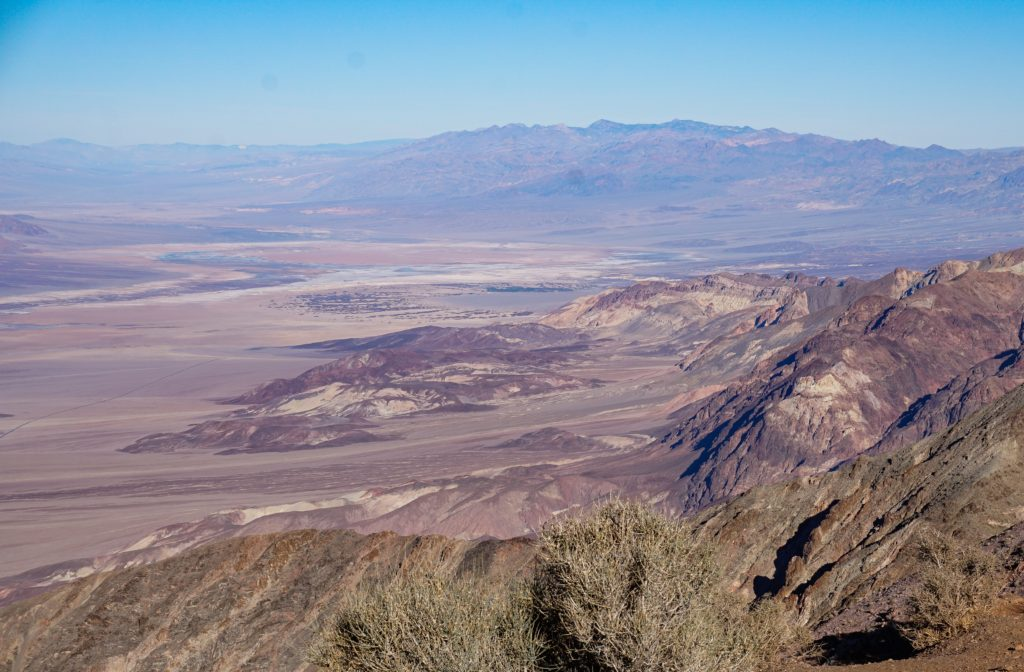 Panoramic views from Dante's View in Death Valley National Park in southern Caifornia