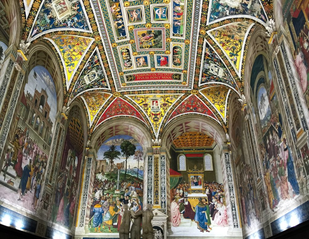 The Piccolomini Library in the Duomo di Siena in Siena Italy