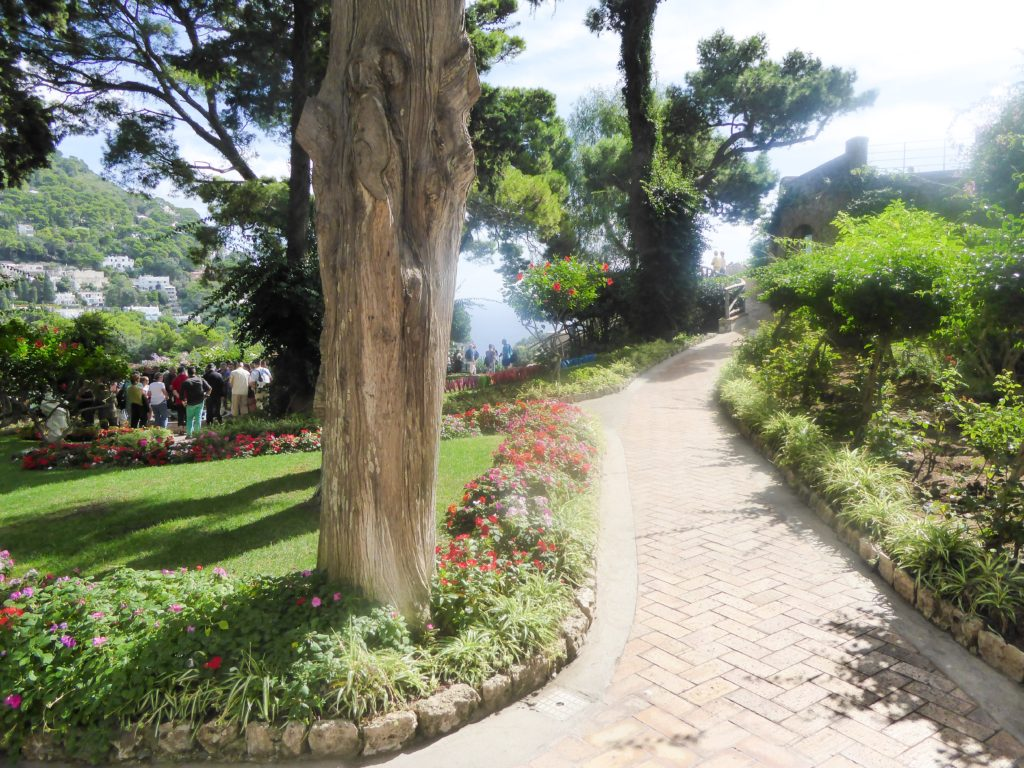 Touring the Gardens of Augustus in Capri Italy