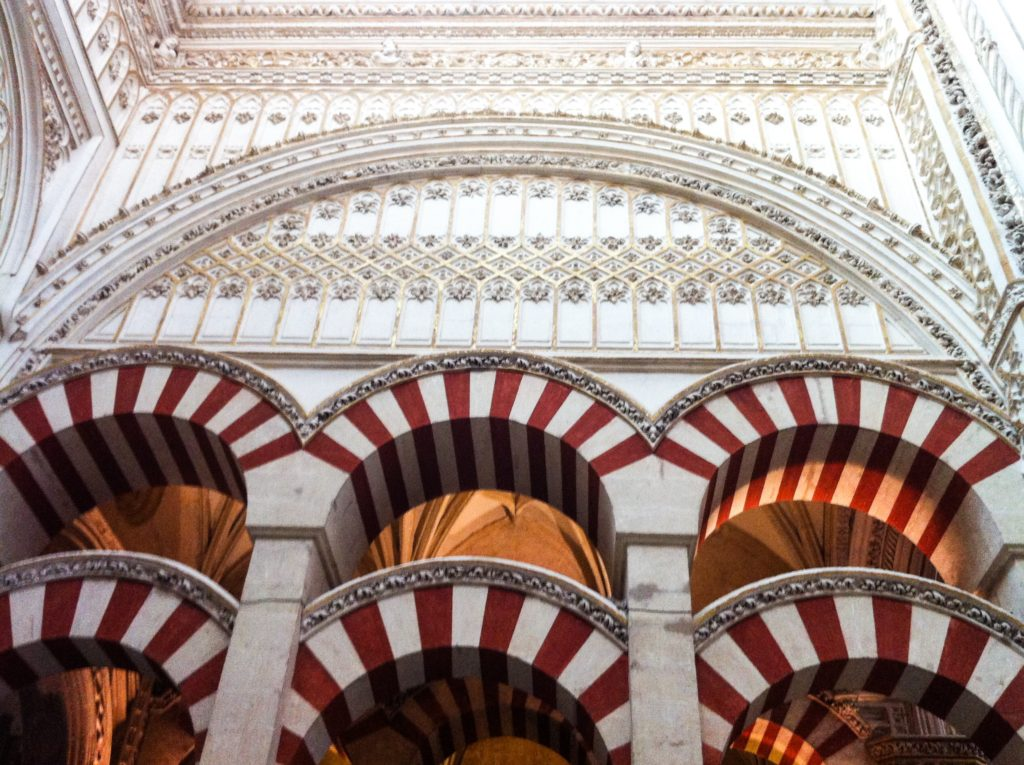 Interior of the Mezquita in Cordoba Spain