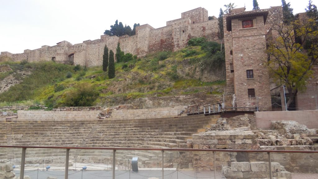 The Alcazaba with apartial view of the Roman theater below