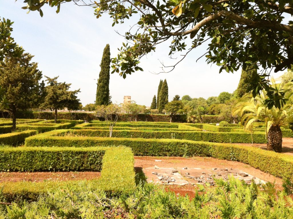 Gardens at Medina Azahara Cordoba Spain
