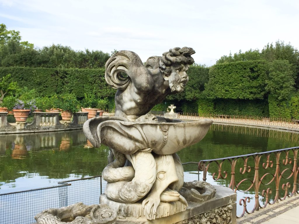 Gargoyle at the Boboli Gardens in Florence, Italy