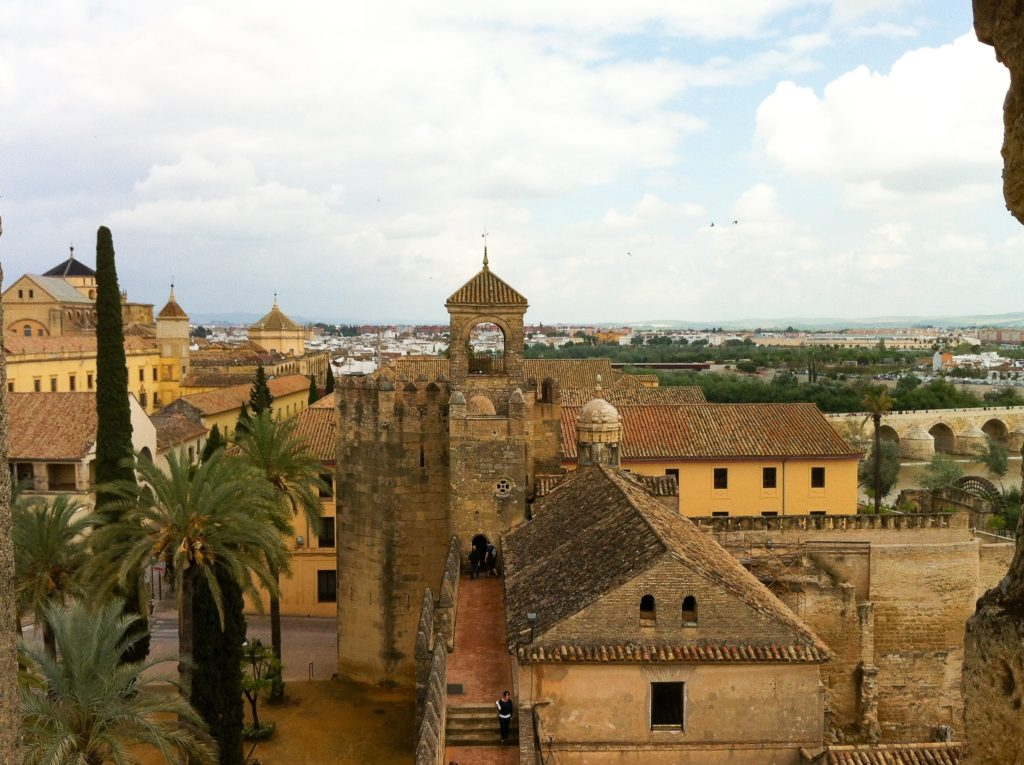 Views from the Alcazar in Cordoba Spain