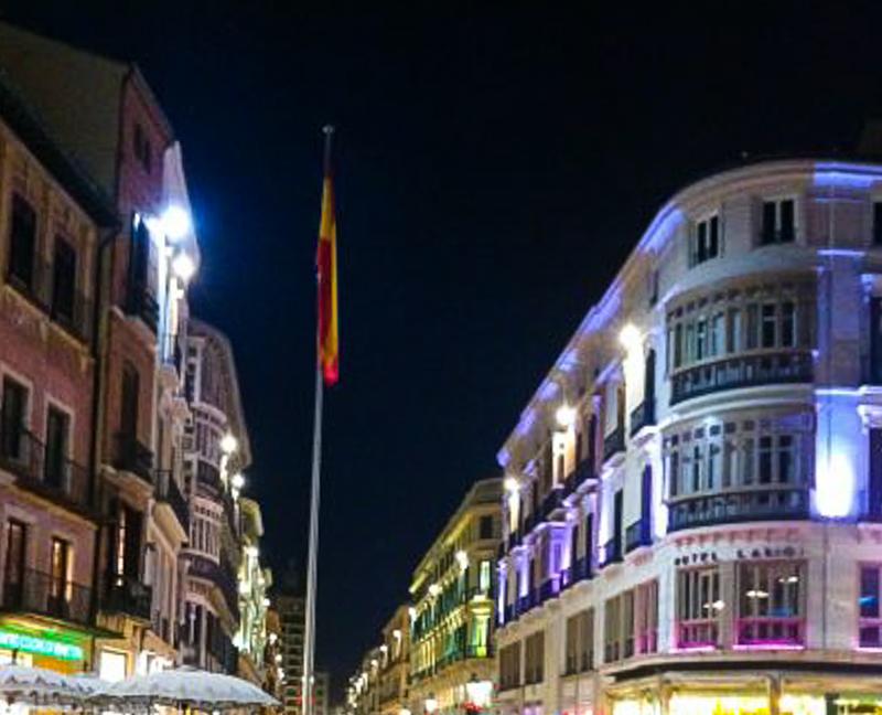 Calle Larios in Malaga Spain