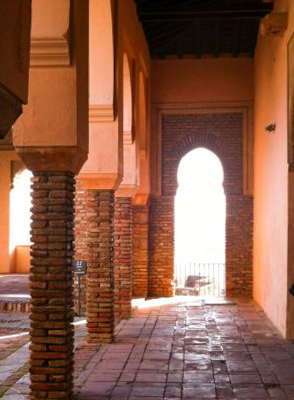Interior of the Alcazaba in Malaga
