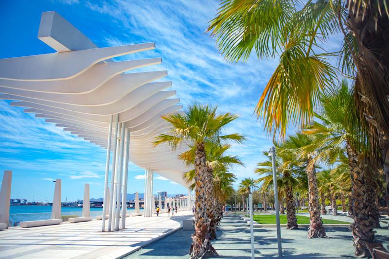 Waterfront Promenade in Malaga, Spain