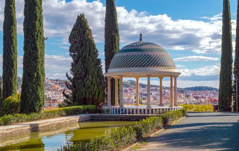 The Mirador in the Botanical Gardens in Malaga, Spain