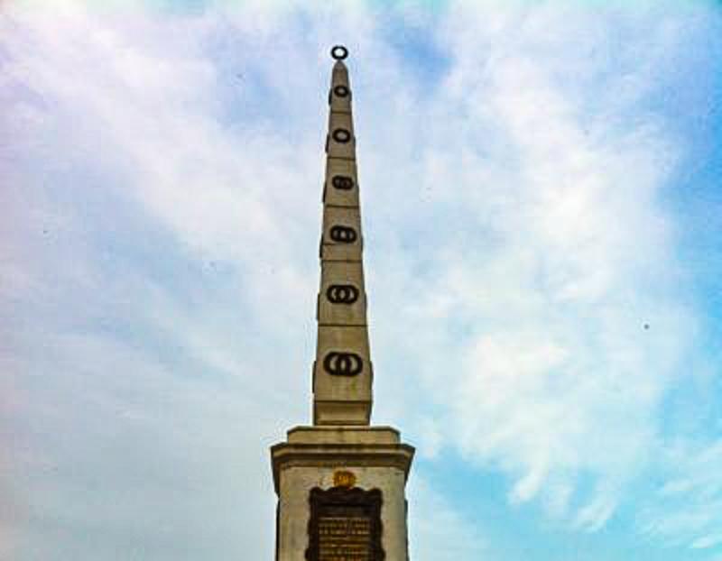 Monumento a Torrijos in Plaza de la Merced Malaga