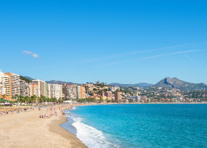 Playa de la Malagueta Malaga Spain