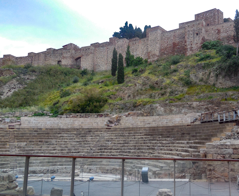 The Roman Theater Malaga Spain