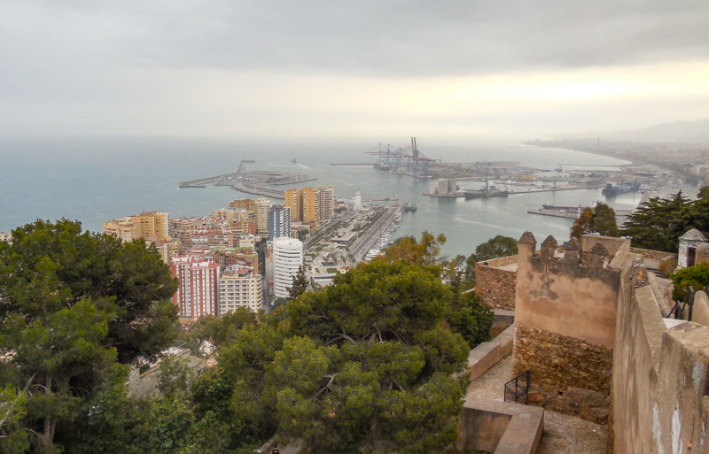 Views from the Gibralfaro Castle in Malaga