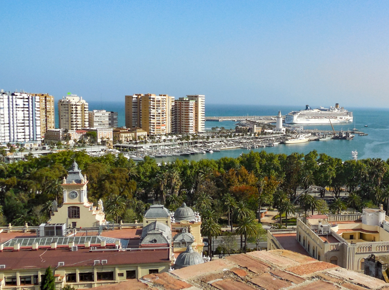 Views from the Gibralfaro in Malaga
