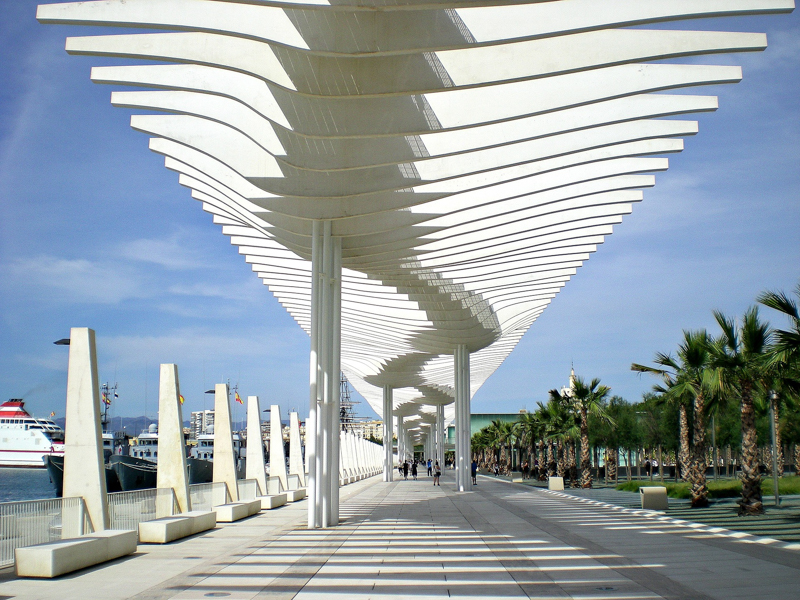 Waterfront Promenade Malaga Spain