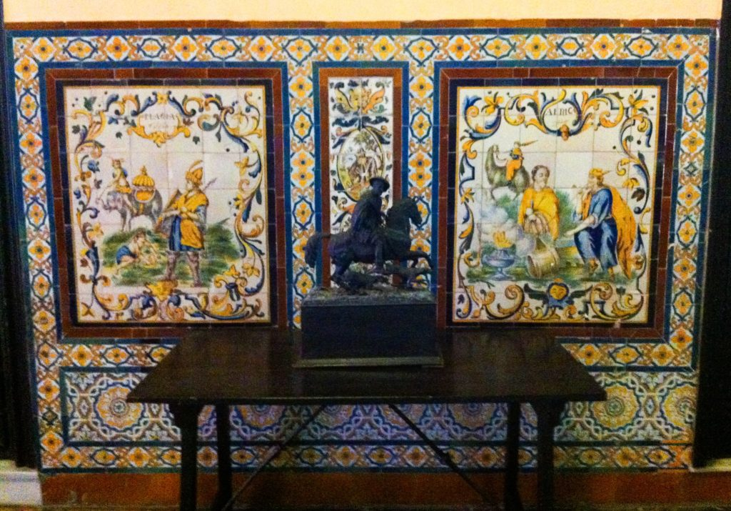 Tile displays Palace of the Countess of Lebrija Seville Spain