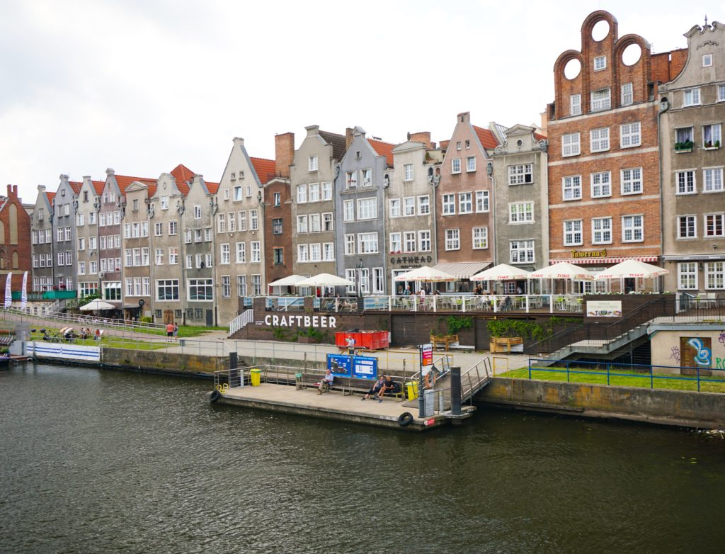 Views of the riverfront at Gdansk Poland