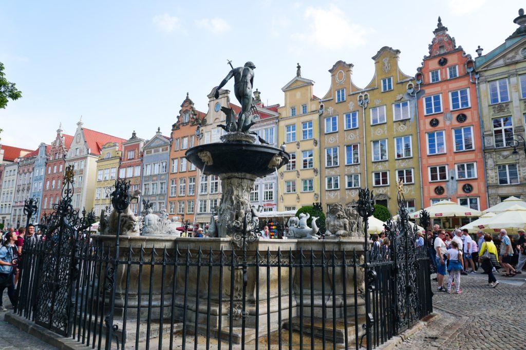 Neptune's Fountain Dlugi Targ Old Town Gdansk Poland