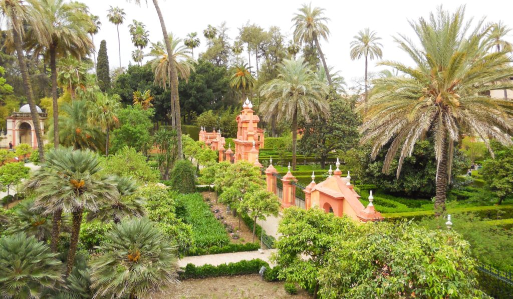 Gardens of the Alcazar in Seville Spain