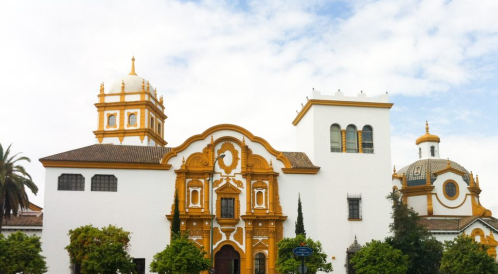 Buildings near the Parque de Maria Luisa in Seville Spain