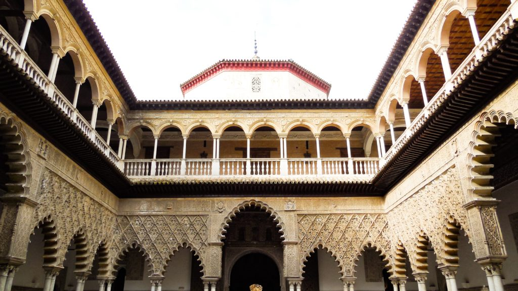 Mudejar architecture at the Alcazar in Seville Spain