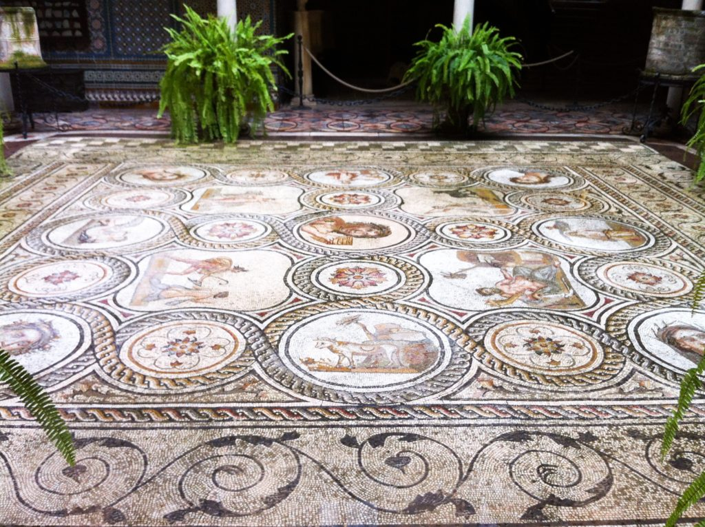 Beautiful tiled floor at the Palace of the Countess of Lebrija Seville Spain
