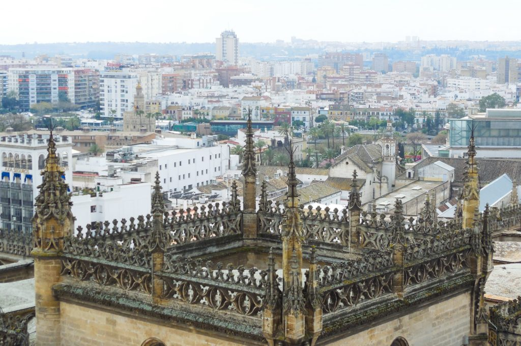 Views of the city from La Giralda in Seville Spain
