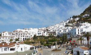 Frigiliana in Spain is a very pretty white village, one you must visit on a day trip from Malaga