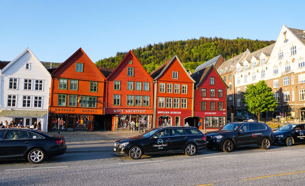 Bryggen buildings in Bergen Norway