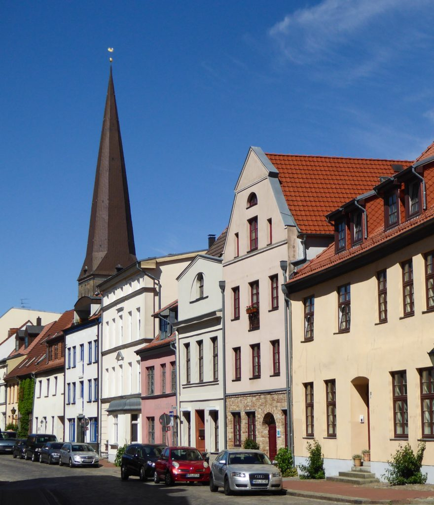 A street in Rostock Germany