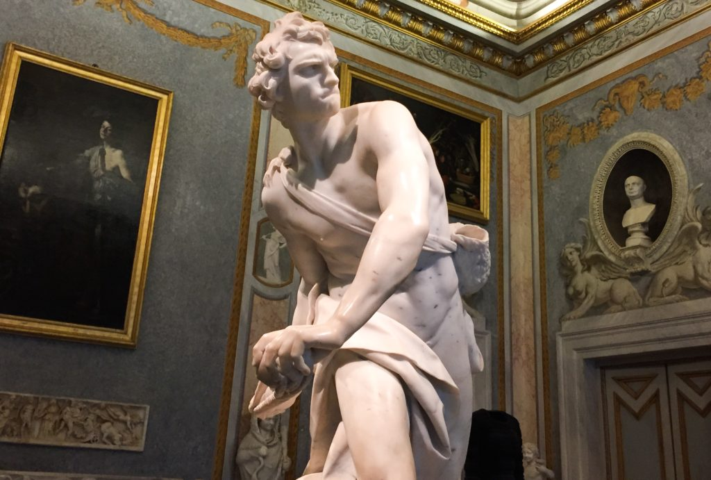 You will love Bernini's David at the Galleria Borghese