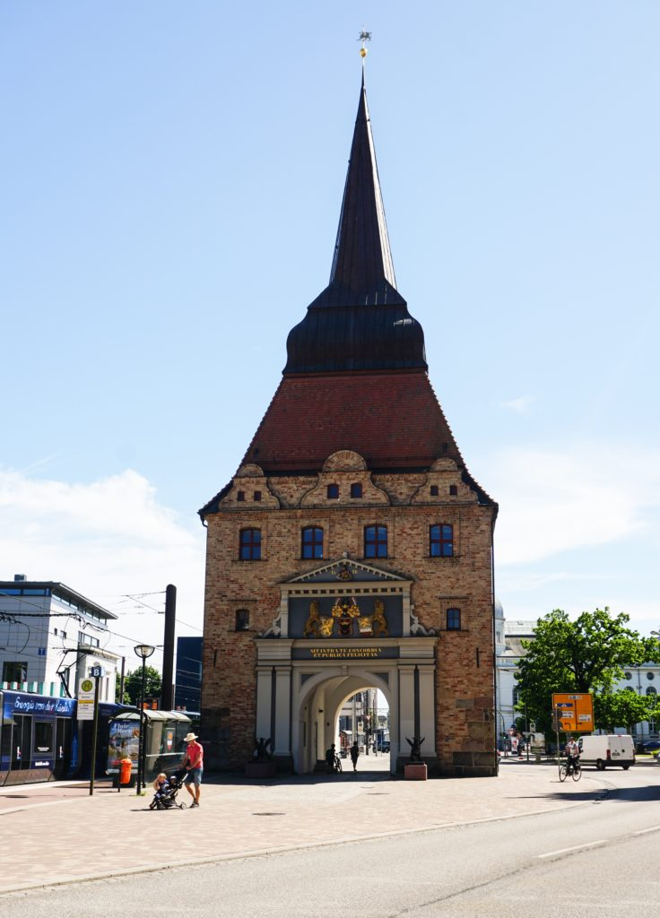 See the beautiful Stone Gate in Rostock!