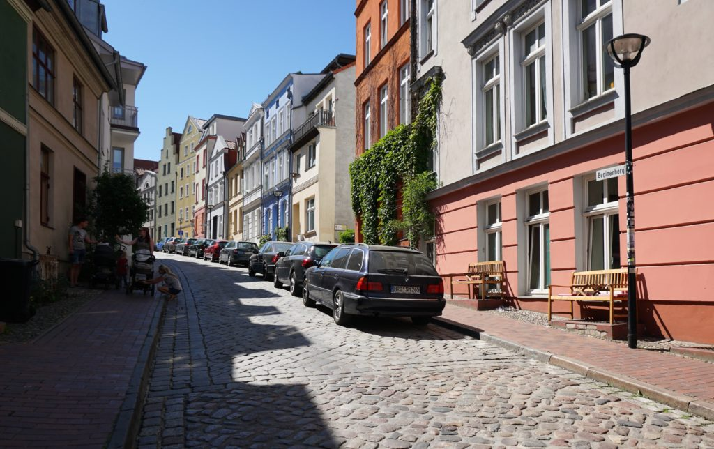 Rostock Germany residential street