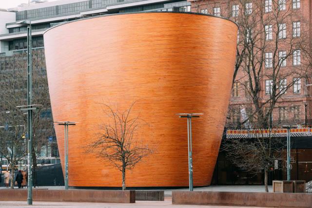 Kamppi Chapel of Silence in Helsinki Finland