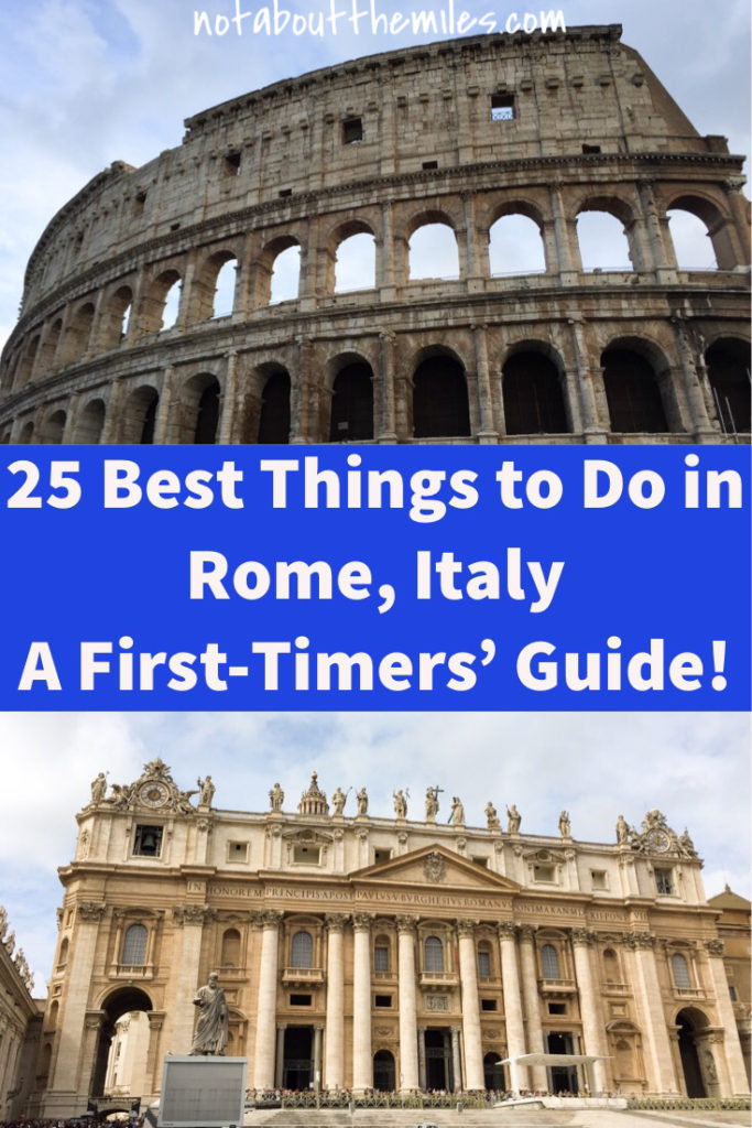 Read my post to discover the 25 best things to do in Rome, Italy, on your first visit. From the classics like the Colosseum to outdoor adventures like walking the Appian Way, my guide will show you the best of Rome!