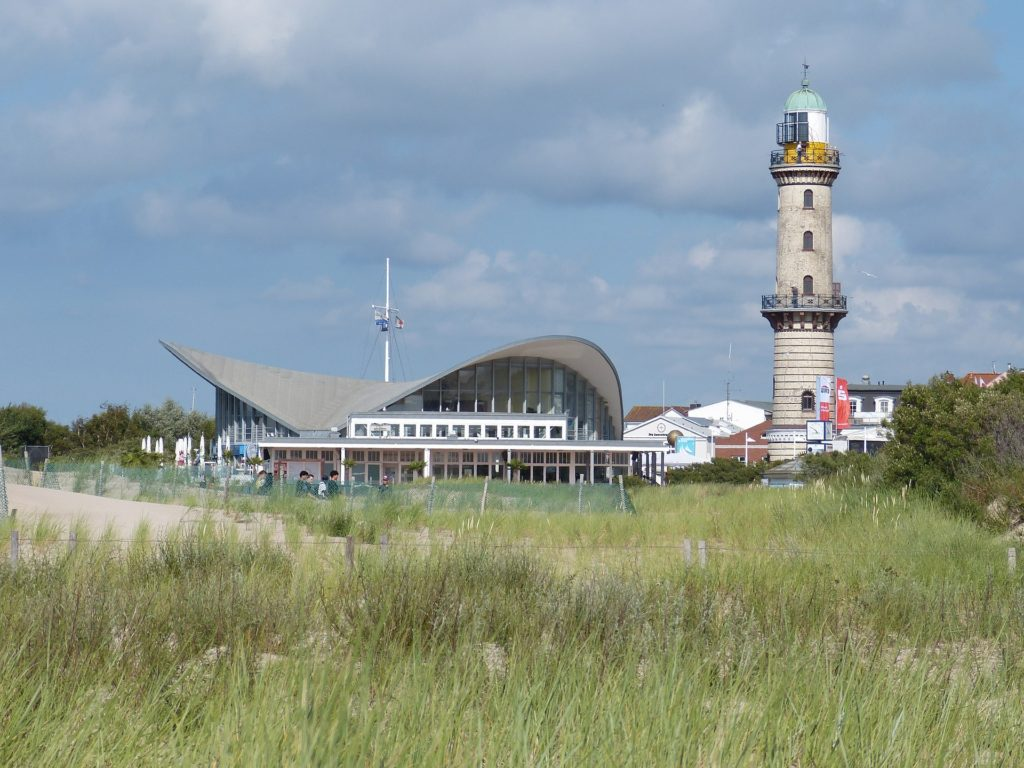 Warnamunde Lighthouse and Teapot Building Warnamunde Germany