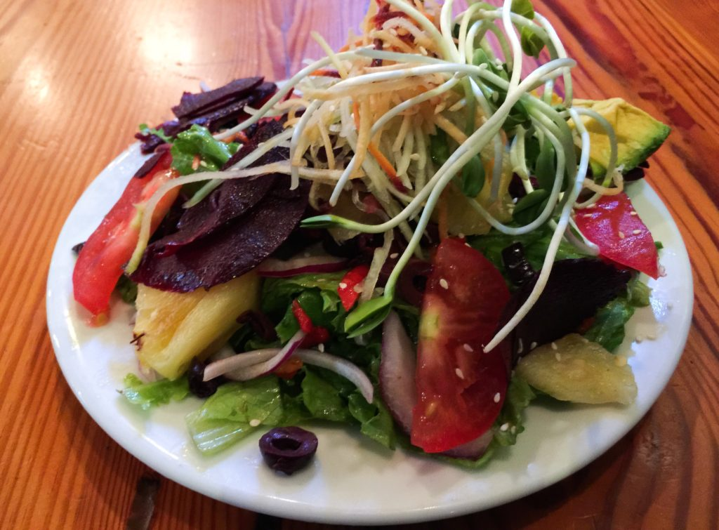 Colorful vegetable salad The Flatbread Company Paia Maui Hawaii