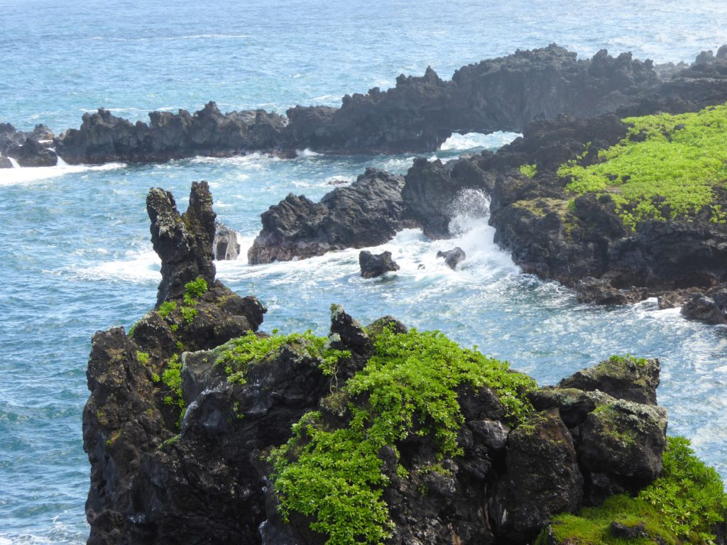 View from lookout at Waina'panapa State Park Maui Hawaii