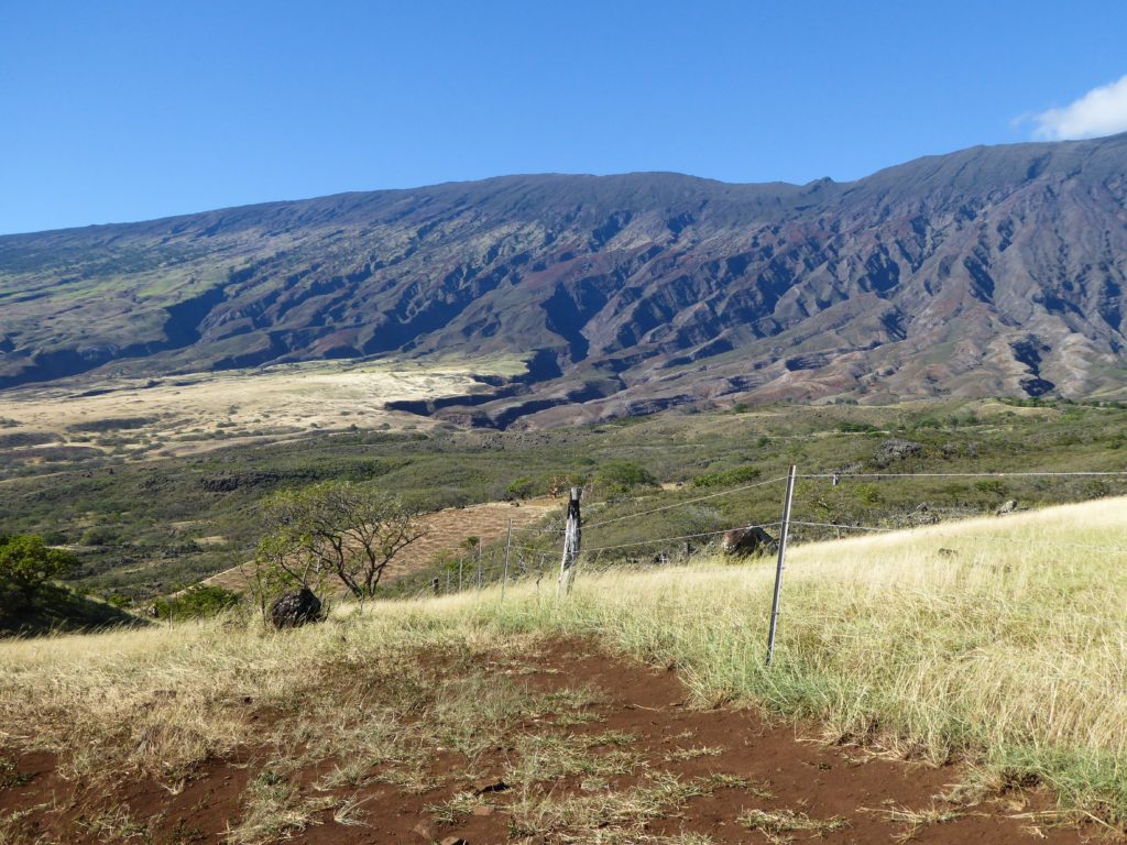 The dry side of Haleakala in Maui Hawaii