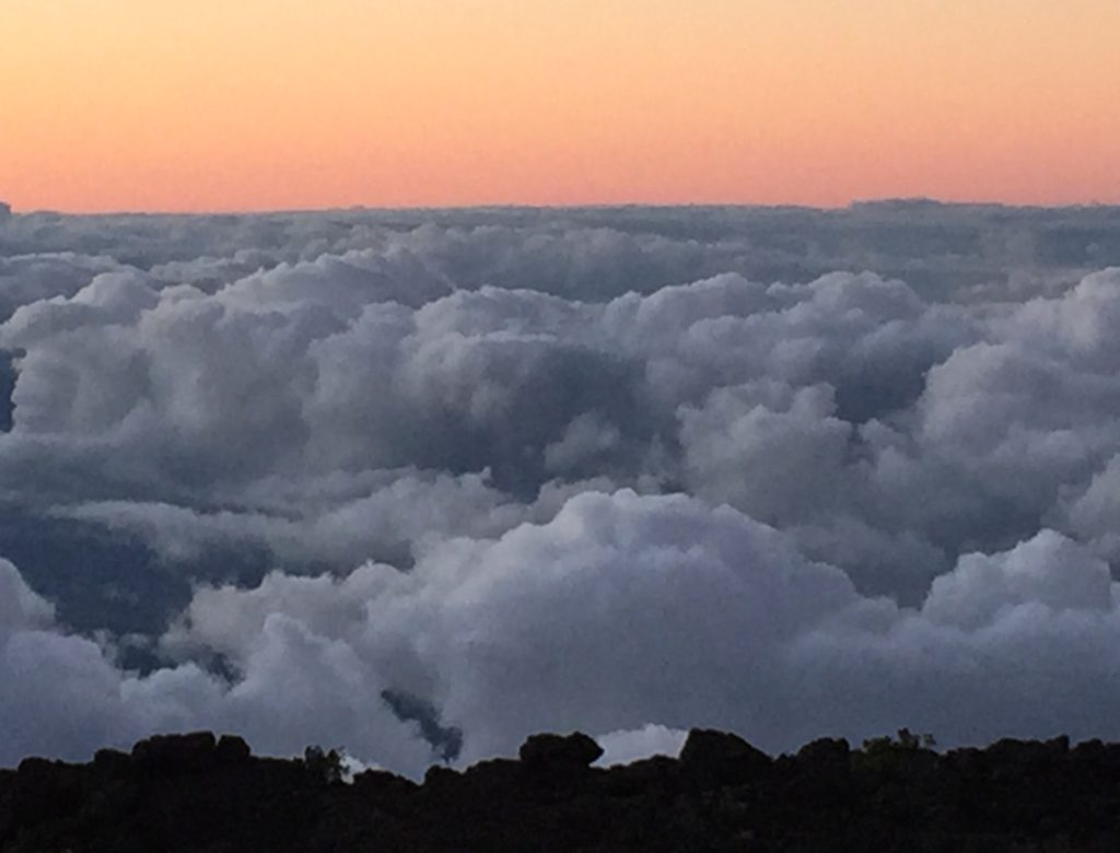 Above the clouds at Haleakala in Maui Hawaii