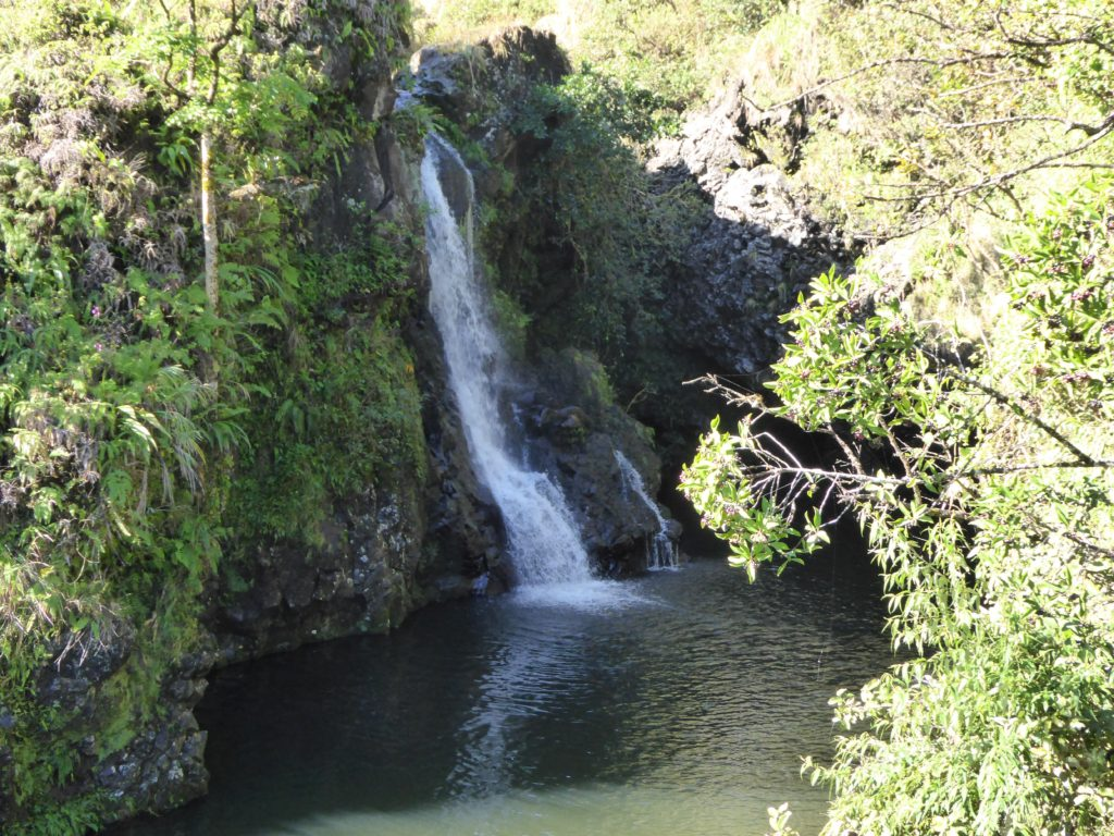 Waterfall on the Road to Hana in Maui Hawaii