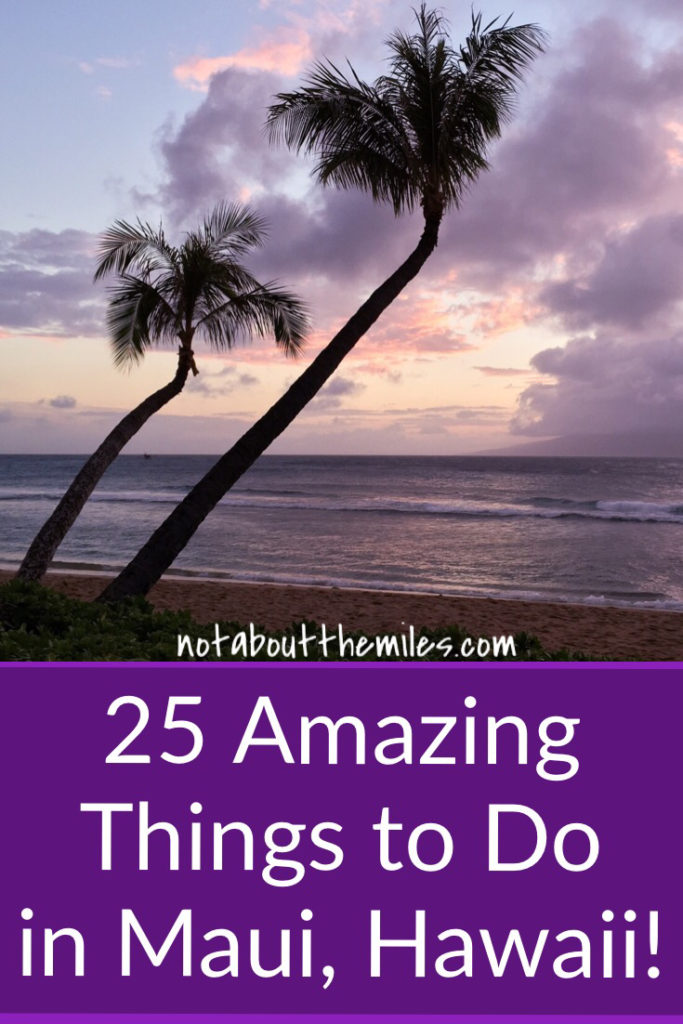 Read my post to discover 25 most amzing things you can do on Maui, Hawaii. Named the most beautiful island in the world many times, Maui offers beautiful beaches, scenic drives, a stunning volcanic crater, and gorgeous flora and fauna. My list will make you want to visit Maui now!