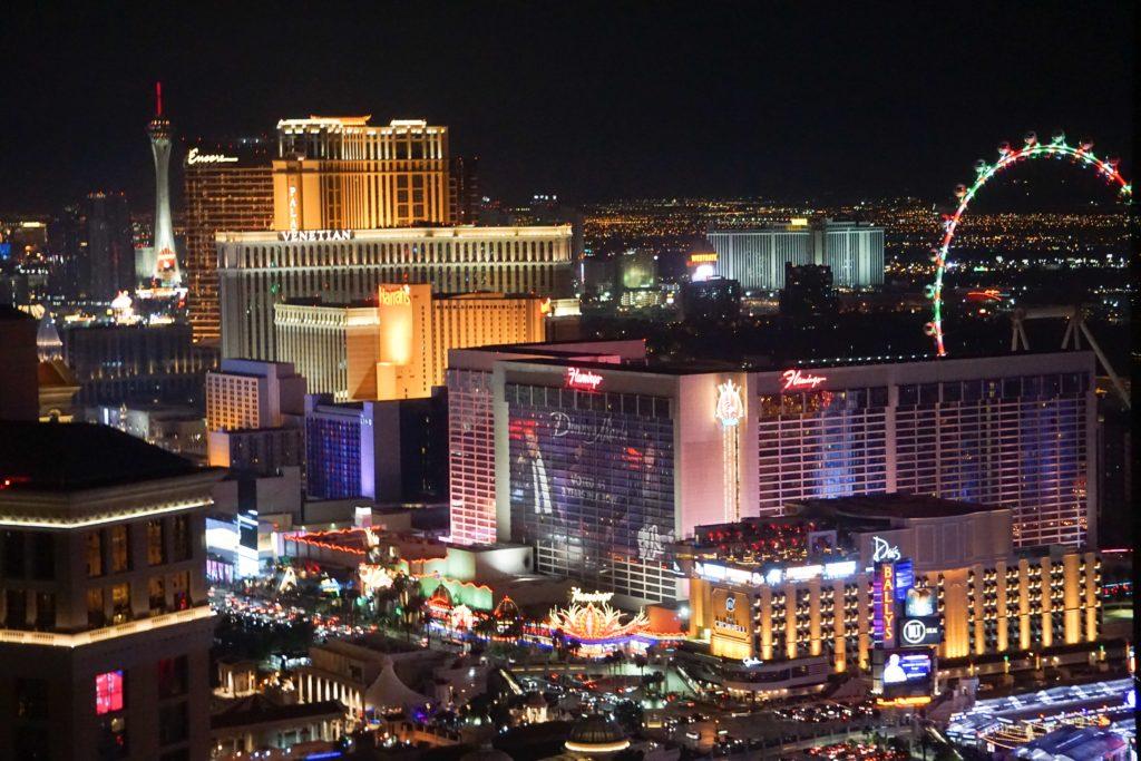 View of the Las Vegas Strip at night