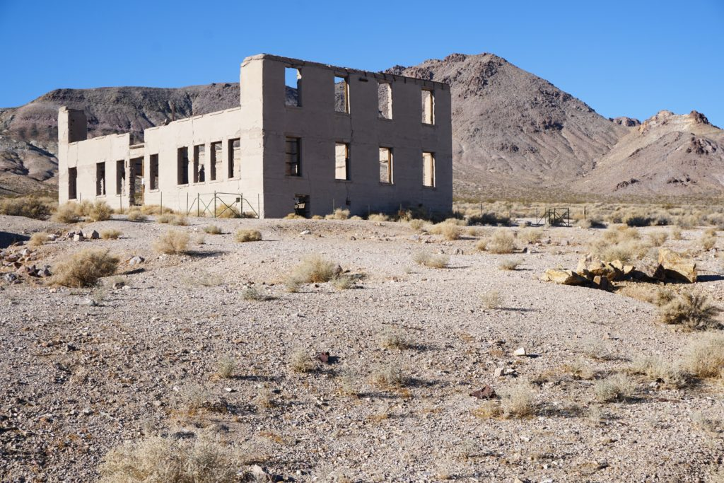 Remains of a building at Rhyolite Nevada