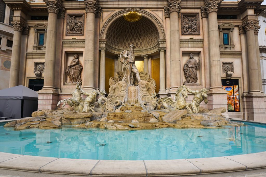 The Trevi Fountain at Caesar's palace Las Vegas