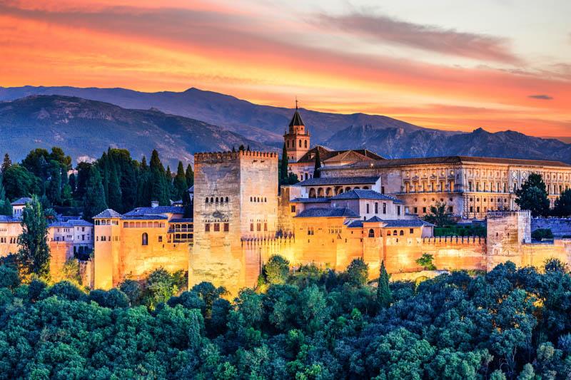 Alhambra of Granada in Spain