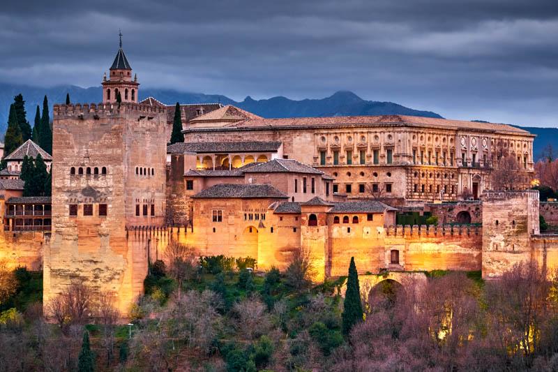 Alhambra of Granada at Night