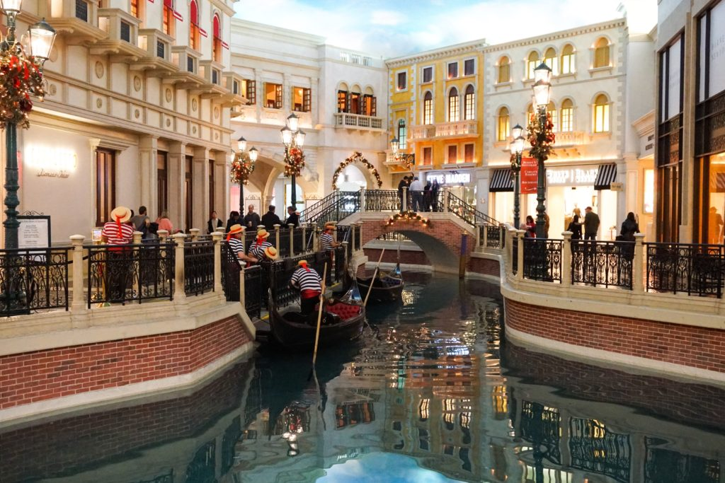 Enjoy a gondola ride at the Venetian in Las Vegas!