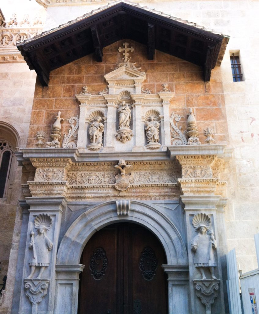 Entrance to the Capilla Real Granada Spain