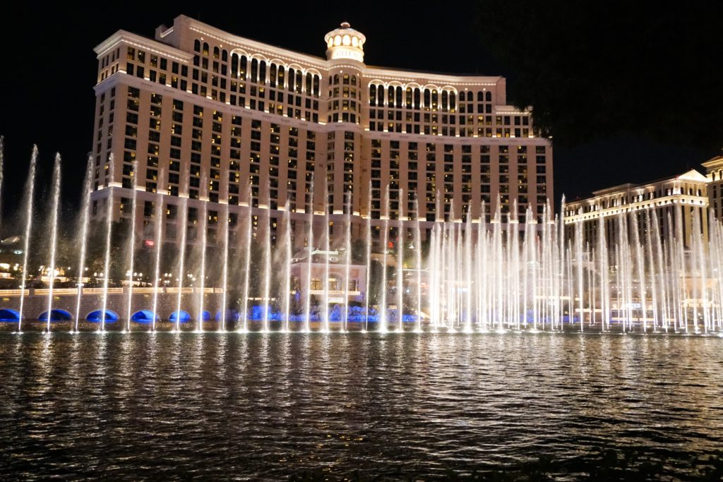 The Fountain Show at the Bellagio is one of the best things to do in Las Vegas