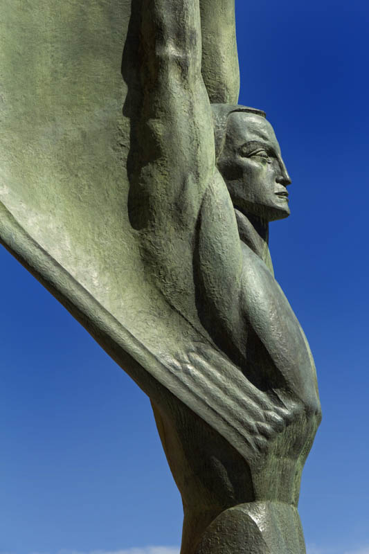 Detail of one of the Winged Figures of the Republic at Hoover Dam in Nevada